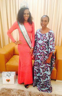 MISS TEEN Nigeria Pays The wife of the vice President a visit