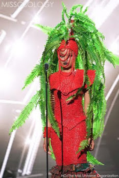 Mehn See Miss Nigeria's outfits at the Miss Universe competition that got Nigerians talking lols