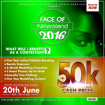 (Dont Miss this opportunity)Register Now For Face of Newsland 2016.Click to Read more.