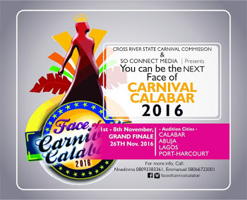 ALERT!!!! Face of Carnival Calabar 2016 Commences Registration