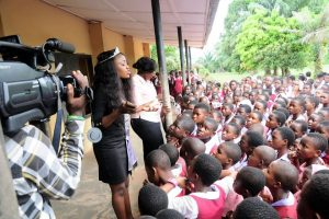 Queen Wanda Monye Kick off her  Peace Education Campaign