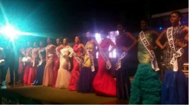 Beauties Without Brains!! All Contestants were Disqualified for failing to answer questions Correctly at a pageant held in Nnewi.