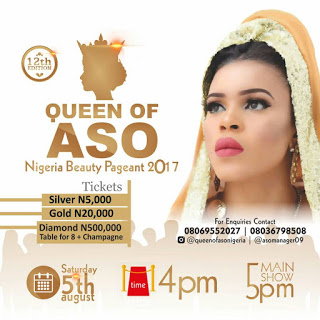 37 Models in 1 Big Stage:Queen of Aso  Nigeria 2017 Grand Finale  Holds on Saturday 5th August in Abuja.