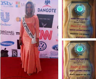 Queen Ijeoma Okafor Bags Double Awards in Madonna Entertainment Forum Award Night 2017
