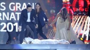 Miss Paraguay Faints On Stage After She Was Announced As Winner Of Miss Grand International