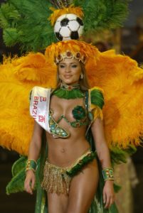 Brazil pageant costume sample
