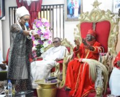 Beauty queen takes evangelism to royal palace in Delta (Photos)