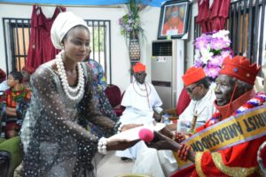 Queen Blessing Utanung meets king in Delta State