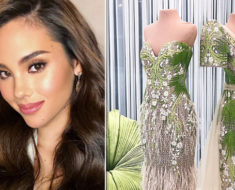 Mak Tumang Sampaguita- inspired gown for Miss universe Catriona Gray