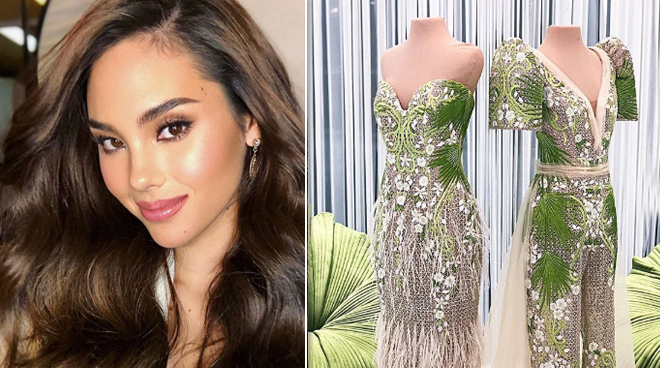 Check out Mak Tumang Sampaguita- inspired gown for Miss universe Catriona Gray