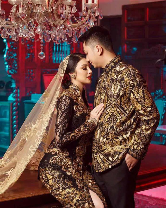 Ariska Putri Pertiwi, winner miss grand international 2016 stunning wedding photos