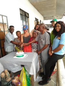 Photos of Nollywood Actress Angel Samuda donates wheelchair to old people on her birthday