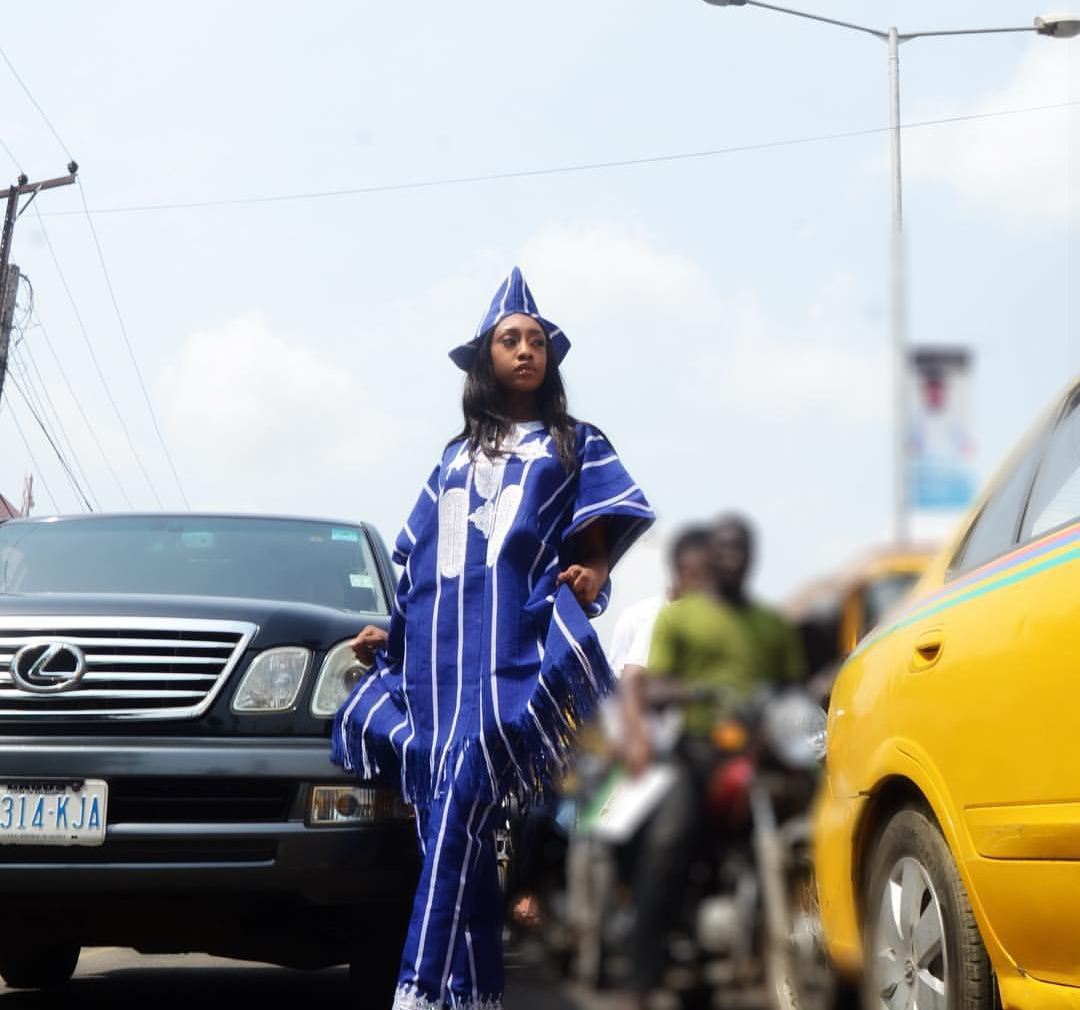 Queen Emmanuella Yaboh Rock Agbada for her creative Birthday shoot