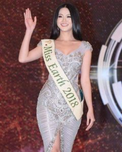 Miss earth pageant evening gown