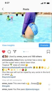 This ass will not be raped by any uncle-Actress Emmanuella iloba shares hot bikini photos