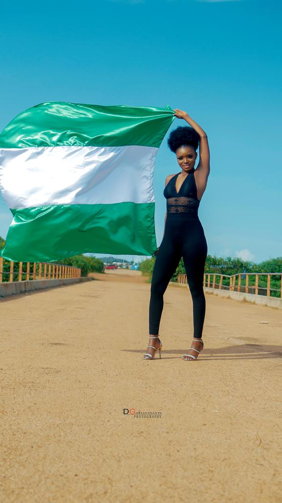 Face of Culture Nigeria 2018, Queen Afolabi Janet Marks Independence day with lovely shoot