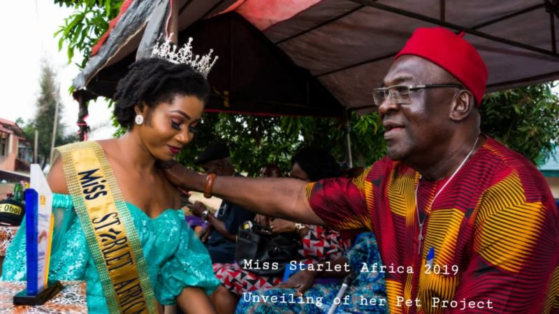 Miss Starlet Africa 2019 Donates Materials, Renovates Enugwu-Ukwu General Hospital