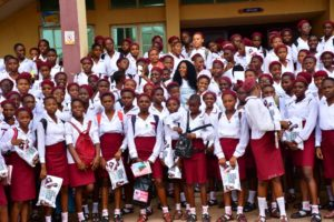 Queen of South East pageant Distributes Hygiene Kits, Writing Materials to Female Students.
