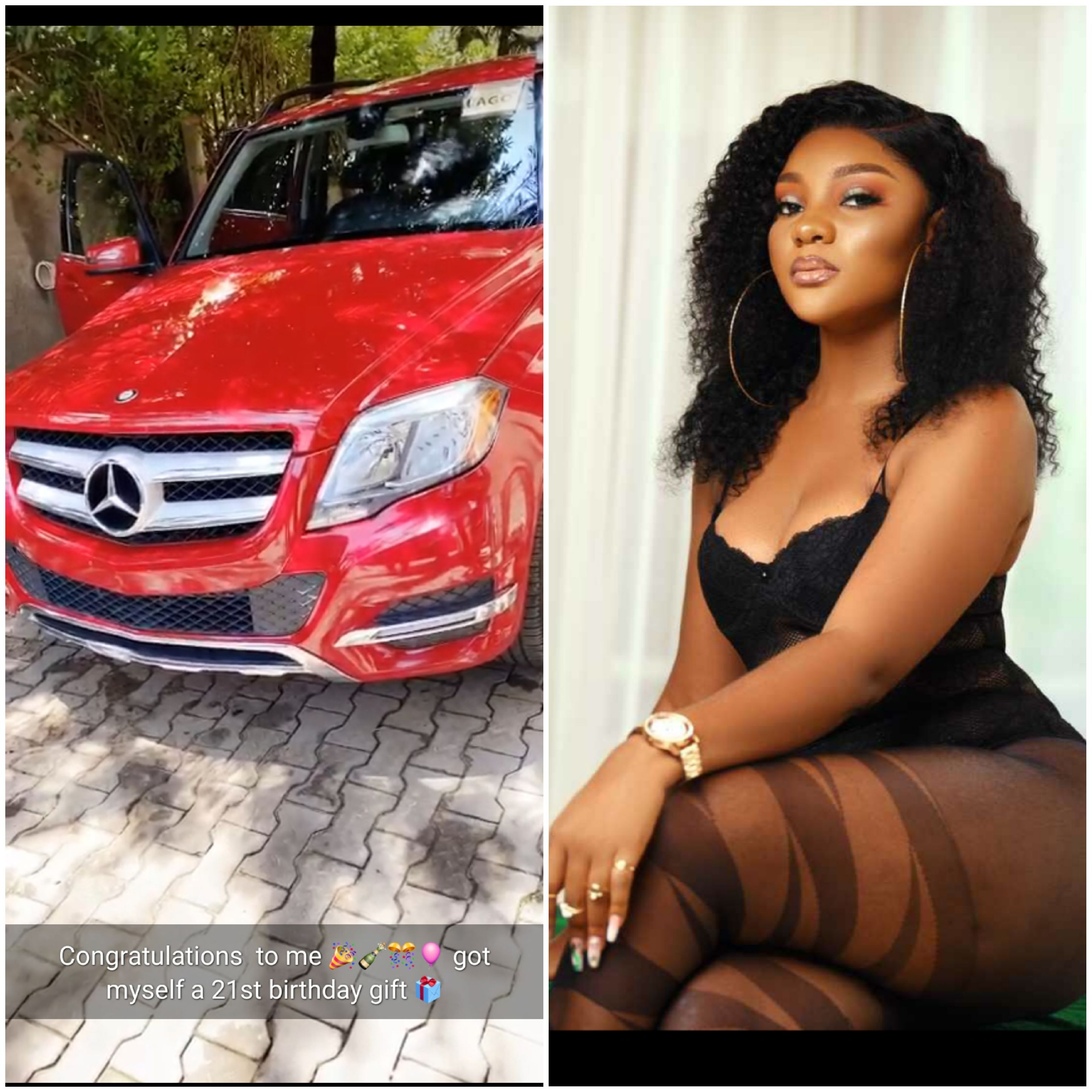 Ex beauty queen, Ruby Uche Flaunts New car on her 21st birthday