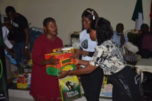 queen Isabella okafor Donates relief materials to families of fallen military heroes