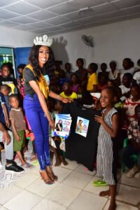 Most beautiful African Model, Queen Felicia Boco kicks off 'Back to school' campaign to mark birthday.