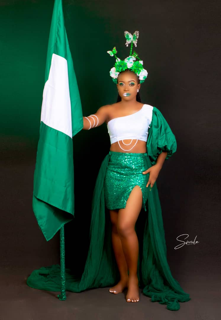 Face of eminent magazine Tourism 2020, Queen Egbo Ifeoma shares stunning independence day shoot