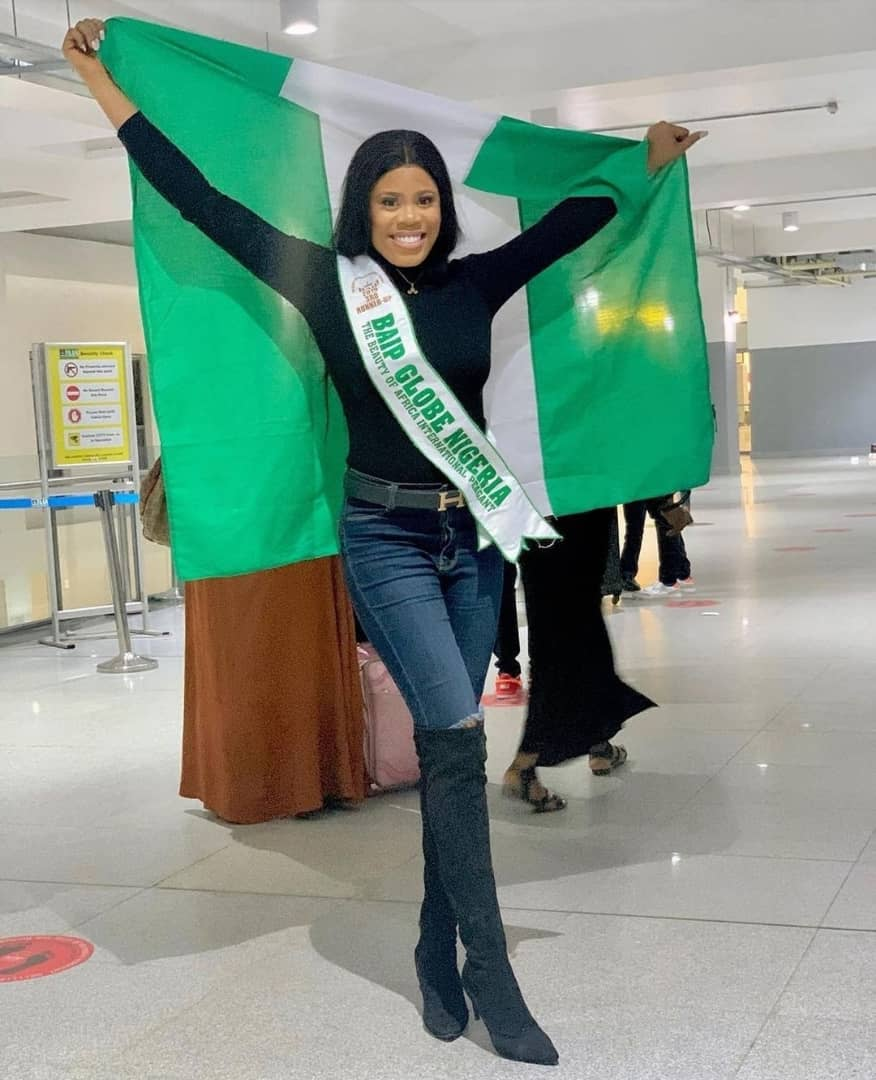 Stunning photos of Queen Joy Ebhodaghe, Nigeria's Rep at The Miss globe 2020 World Finals