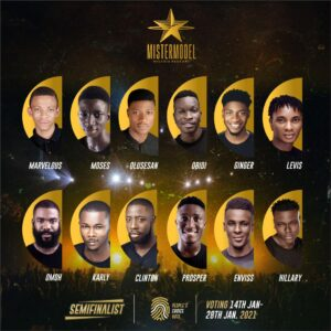 People's choice voting for Mister model Nigeria 2021 kicks off today