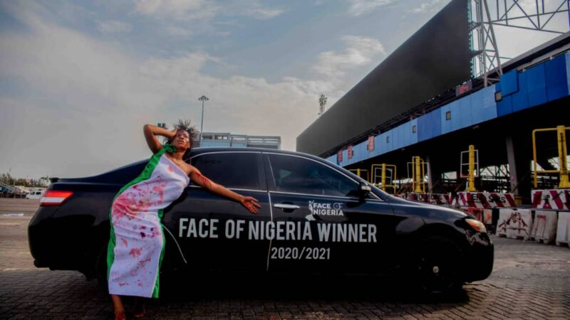 Face of Nigeria 2020/2021 winner, Vivian Okpala reminisce Lekki massacre with artistic photoshoot