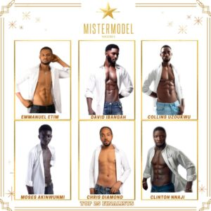 Photos of 25 hot finalists of 'Mister Model Nigeria' competition 2021