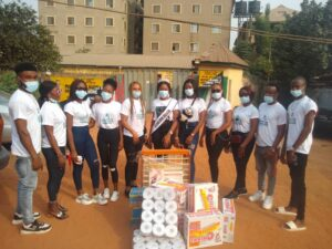 Birthday celebration: Queen Egbo Ifeoma Donates food items to orphanage home in onitsha, Anambra.