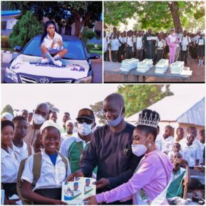 Top Nigerian Beauty Queen Tracy Solomon Flags Off Educational Project, drills borehole in Nasarawa State